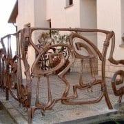 ročno kovane balkonske ograje